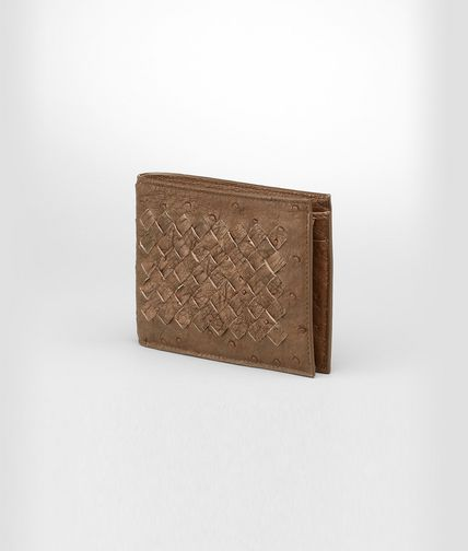 BOTTEGA VENETA - Intrecciato Antique Ostrich Wallet