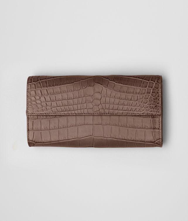 Continental Portemonnaie aus weichem Krokodilleder Fumé Edoardo