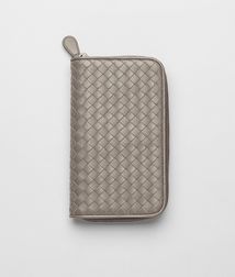 BOTTEGA VENETA - Wallets, Fume Intrecciato Nappa Zip Around Wallet