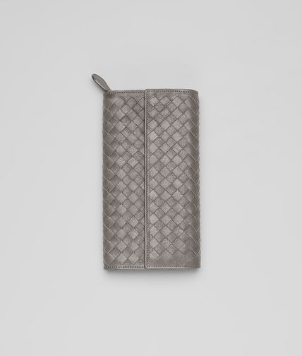 BOTTEGA VENETA - Intrecciato Washed Lambskin Continental Wallet