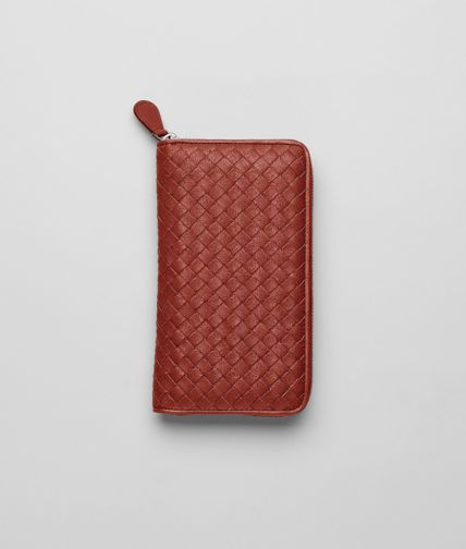 BOTTEGA VENETA - Intrecciato Washed Lambskin Zip Around Wallet