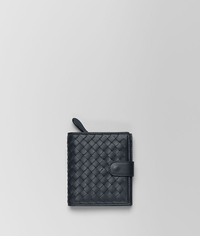 BOTTEGA VENETA MINI WALLET IN TOURMALINE INTRECCIATO NAPPA Mini Wallet or Coin Purse D fp