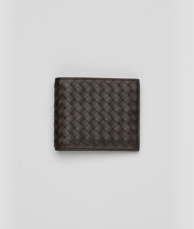 Portemonnaie aus VN-Leder Intrecciato Ebano