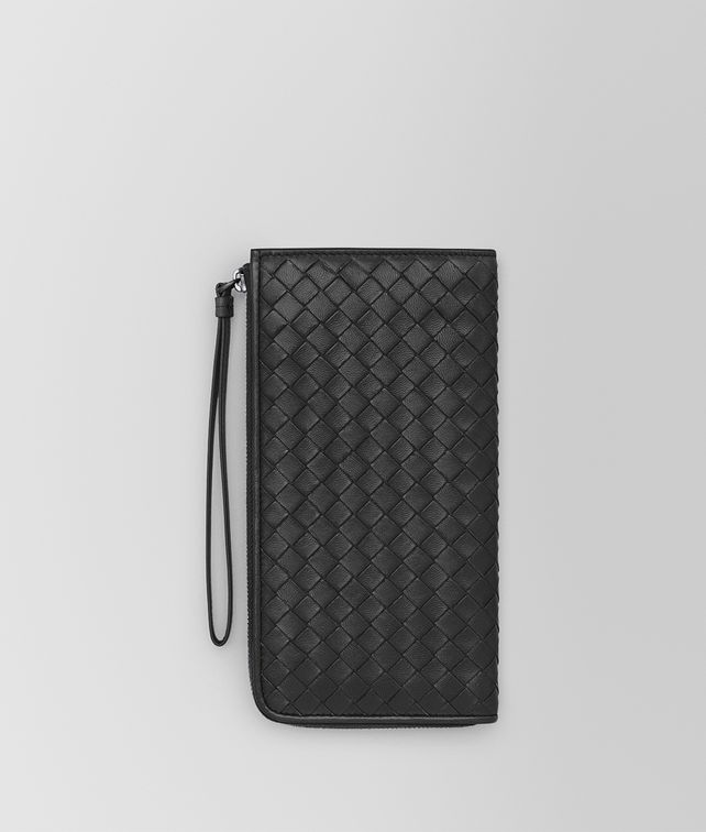 BOTTEGA VENETA Nero Intrecciato Nappa Continental Wallet Zip Around Wallet D fp