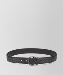 BOTTEGA VENETA - Belts, Nero Intrecciato VN Belt