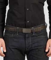 Espresso Intrecciato Waxed Leather Belt