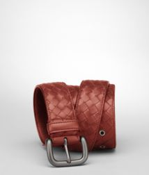 BOTTEGA VENETA - Accessories, Brique Intrecciato VN Belt