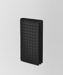 BOTTEGA VENETA - Wallets, Nero Intrecciato VN Continental Wallet