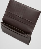 Portefeuille Continental Ebano en cuir VN Intrecciato