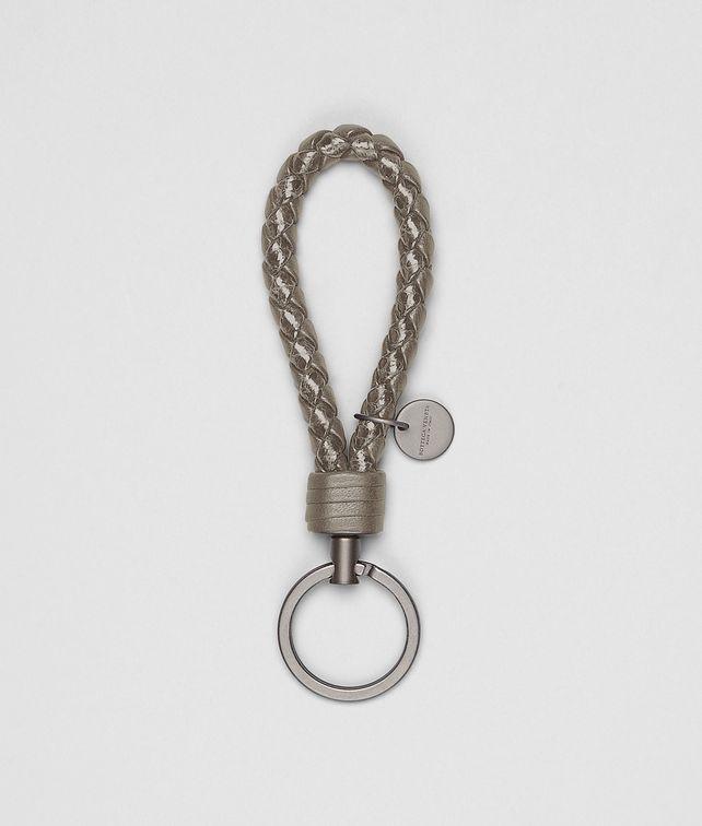 Schlüsselanhänger aus Ayers und Nappaleder Intrecciato Fume