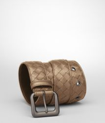 BOTTEGA VENETA - Belts, Bronze Intrecciato VN Belt