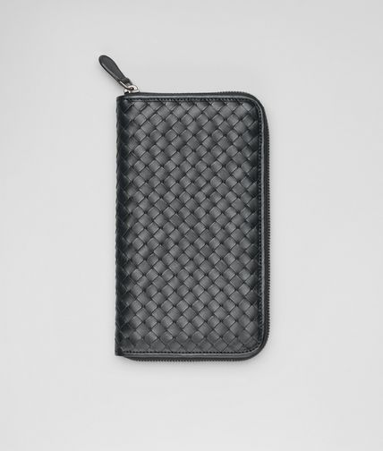 BOTTEGA VENETA - Ardoise Intrecciato VN Zip Around Wallet