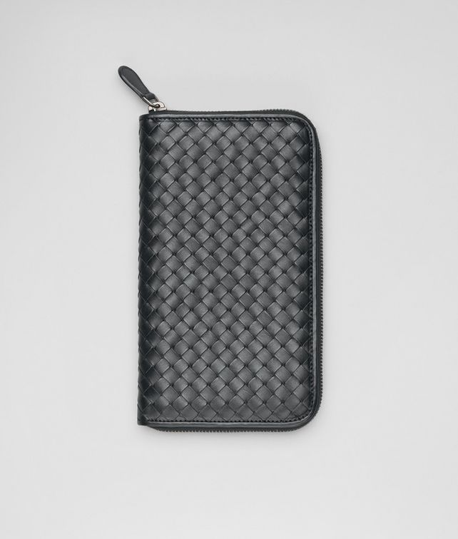 ZIP AROUND WALLET IN ARDOISE INTRECCIATO VN