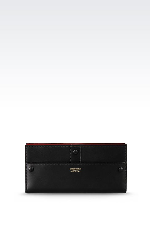 TWO-COLOR TRAVEL WALLET: Wallets Women by Armani - 1