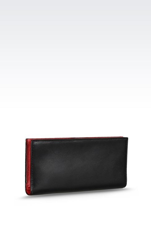 TWO-COLOR TRAVEL WALLET: Wallets Women by Armani - 2