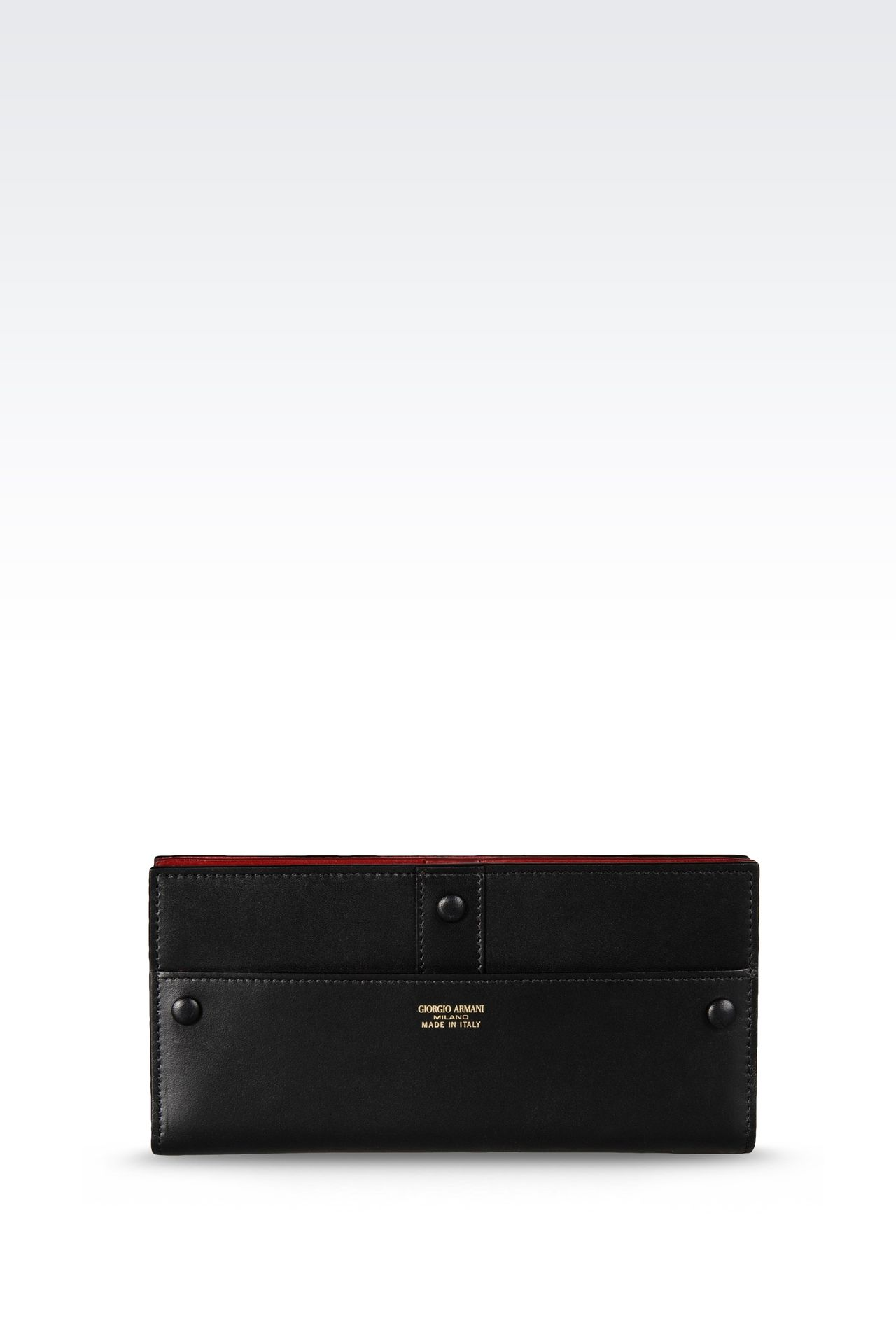 TWO-COLOR TRAVEL WALLET: Wallets Women by Armani - 0