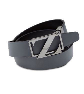 ZZEGNA: Belt Dark brown - Black - 46307028GA