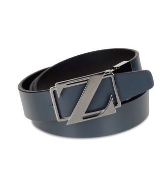 ZZEGNA: Belt Grey - Slate blue - 46307028XH