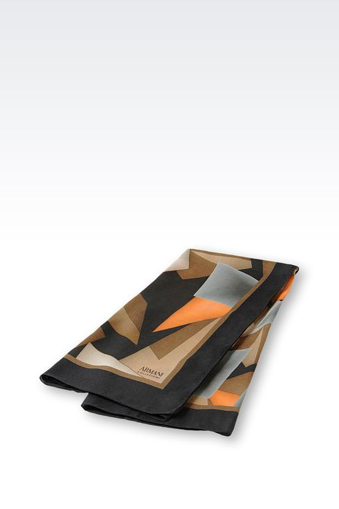 SCARF IN GEOMETRIC DESIGN MODAL AND CASHMERE: Foulards Women by Armani - 2