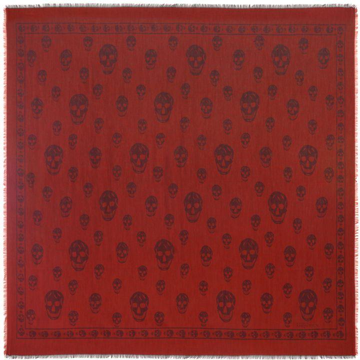 Alexander McQueen, Scialle Skull Bicolore