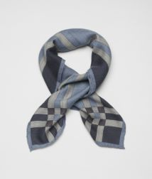 BOTTEGA VENETA - Accessories, Nile Blue Cashmere Silk Scarf