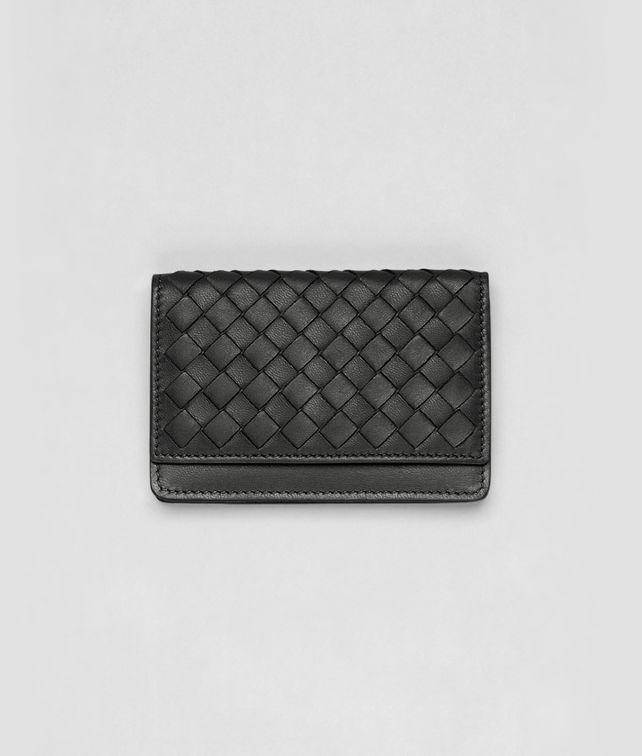 BOTTEGA VENETA Ardoise Intrecciato Nappa Card Case Mini Wallet or Coin Purse D fp