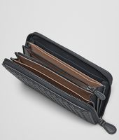 Prusse Intrecciato Washed Lambskin Zip Around Wallet