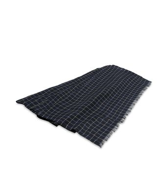 ERMENEGILDO ZEGNA: Scarf Blue - Steel grey - 46307923DP