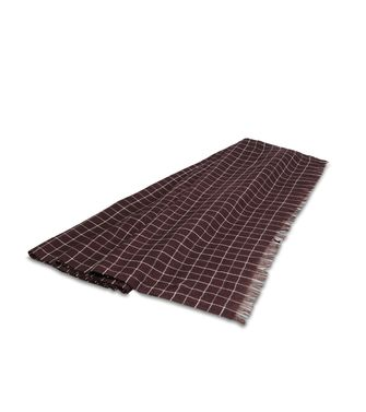 ERMENEGILDO ZEGNA: Scarf Blue - Dark brown - 46307923UH