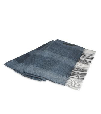 ERMENEGILDO ZEGNA: Scarf Blue - Light grey - 46307924QN