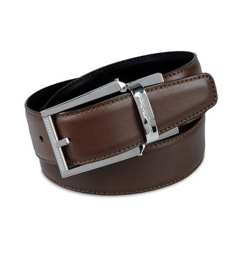 ERMENEGILDO ZEGNA: Belt Brown - 46308166HU