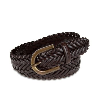 ERMENEGILDO ZEGNA: Belt Dark brown - 46308173RN