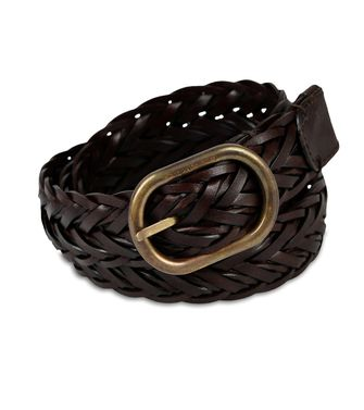 ERMENEGILDO ZEGNA: Belt Dark brown - Black - 46308174MK