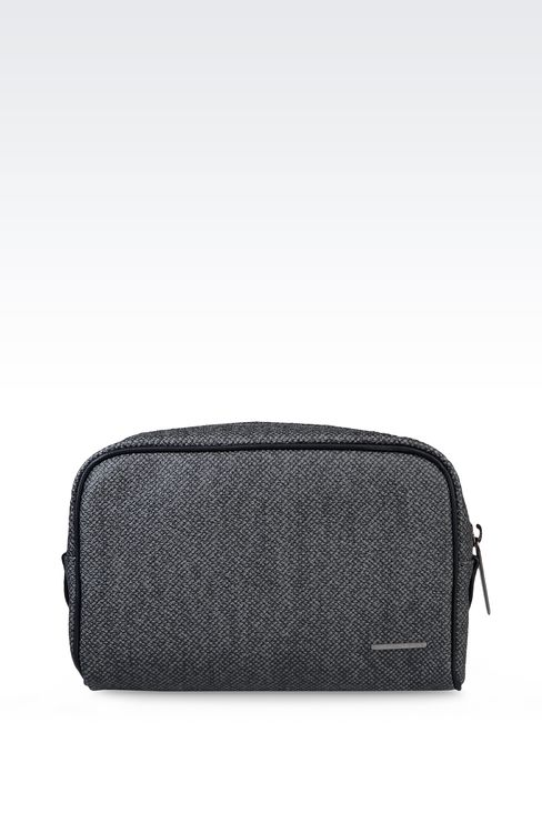 SMALL WASH BAG IN PVC: Beauty cases Men by Armani - 1