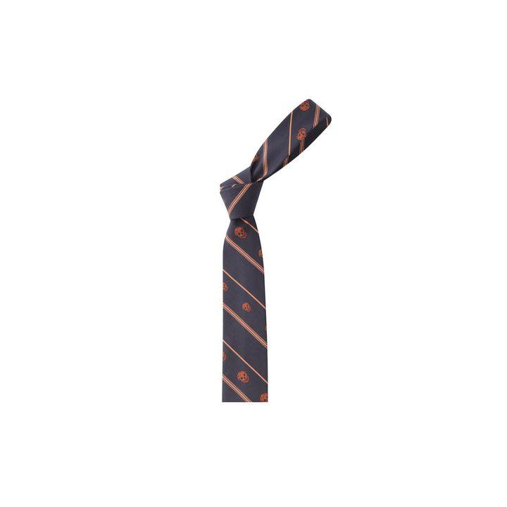 Alexander McQueen, Stripe-Skull Tie