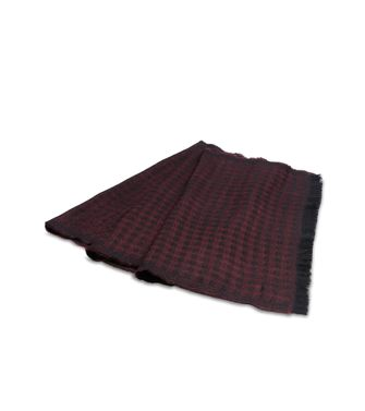 ZZEGNA: Scarf Maroon - Steel grey - 46308272NM