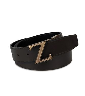 ZZEGNA: Belt Black - Dark brown - 46308279TS