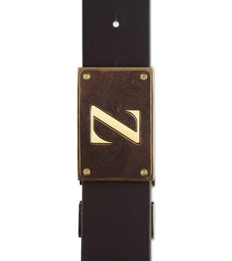 ZZEGNA: Belt Dark brown - Black - 46308281LV