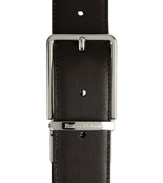 ERMENEGILDO ZEGNA: Belt Steel grey - 46308283AS