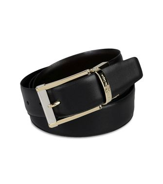 ERMENEGILDO ZEGNA: Belt Black - Dark brown - 46308285HW