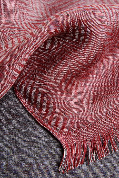 TWO-COLOUR STOLE IN VISCOSE AND SILK: Stoles Women by Armani - 3