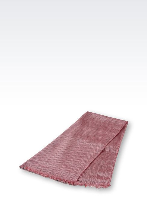 TWO-COLOUR STOLE IN VISCOSE AND SILK: Stoles Women by Armani - 2