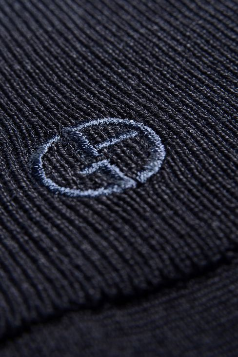KNEE SOCKS IN COTTON WITH EMBROIDERED LOGO: Socks Men by Armani - 2