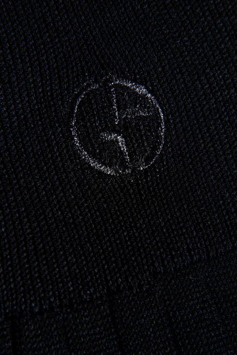 KNEE SOCKS IN RIBBED COTTON: Socks Men by Armani - 2