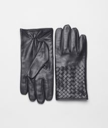 BOTTEGA VENETA - Accessories, Ardoise Intrecciato Soft Nappa Gloves