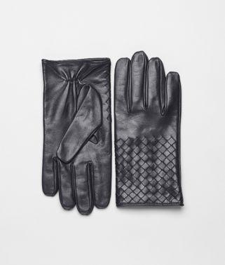 Handschuhe aus weichem Nappaleder Intrecciato Ardoise