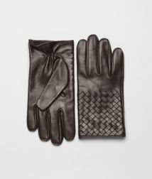 BOTTEGA VENETA - Accessories, Ebano Intrecciato Soft Nappa Gloves