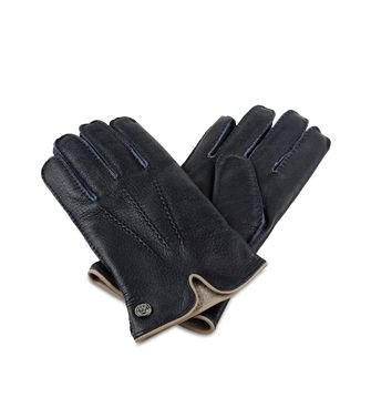 ERMENEGILDO ZEGNA: Gloves Blue - 46308587EW