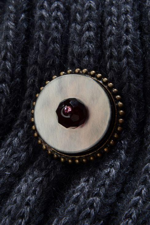TURBAN-STYLE HAT IN WOOL: Hats Women by Armani - 3