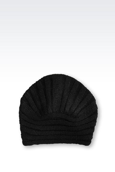 TURBAN-STYLE HAT IN WOOL: Hats Women by Armani - 2